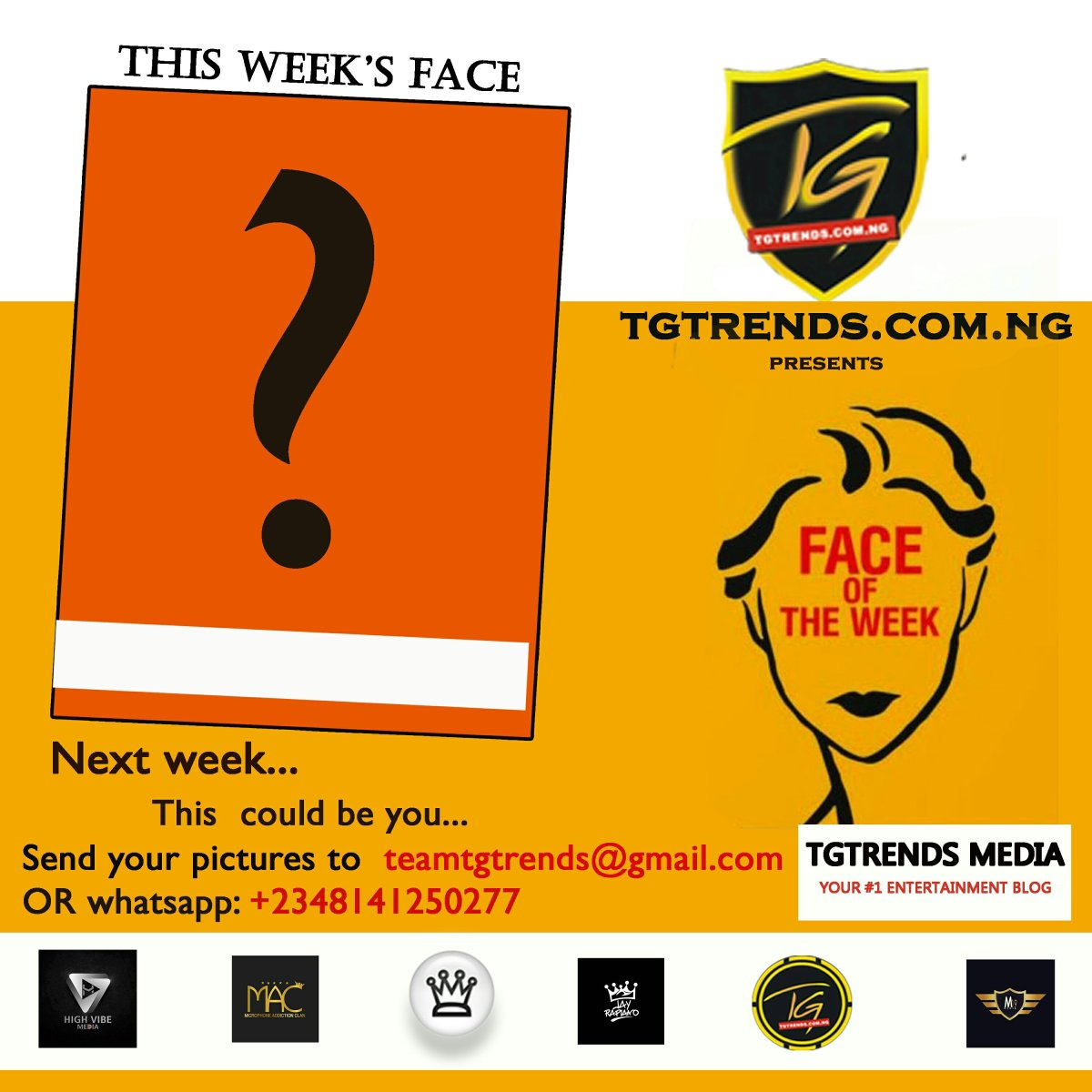 Become TGtrends Face Of The Week (Male & Female)